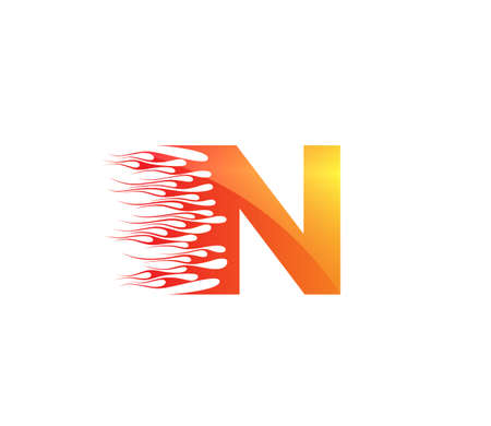 N Fire Creative Alphabet Logo Design Concept