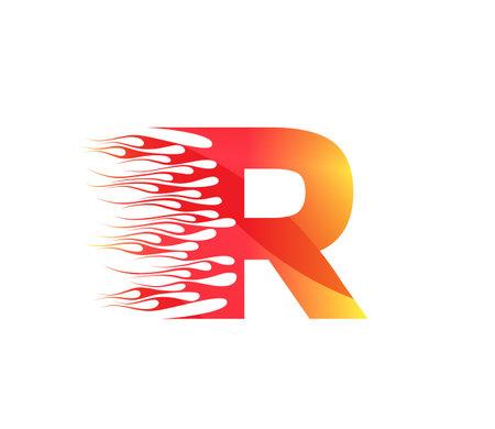 R Fire Creative Alphabet Logo Design Concept