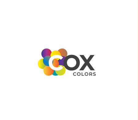 COX Colors Company Logo Design Concept