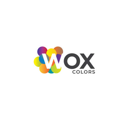 WOX Colors Company Logo Design Concept