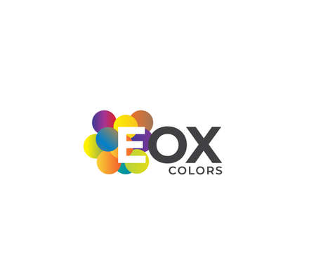 EOX Colors Company Logo Design Concept