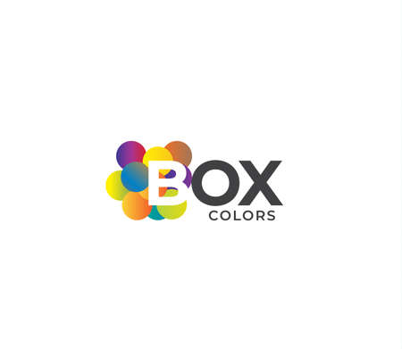 BOX Colors Company Logo Design Concept