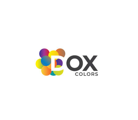 DOX Colors Company Logo Design Concept