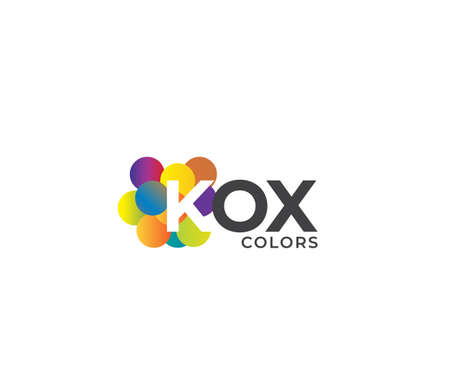 KOX Colors Company Logo Design Concept