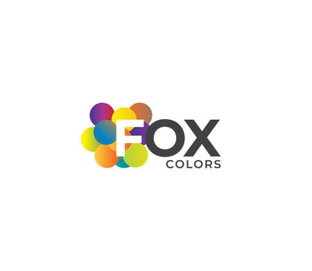 FOX Colors Company Logo Design Concept