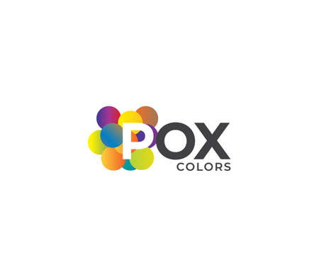 POX Colors Company Logo Design Concept
