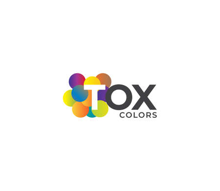 TOX Colors Company Logo Design Concept