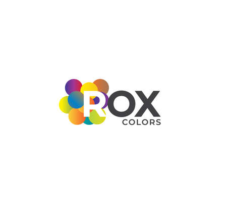 ROX Colors Company Logo Design Concept