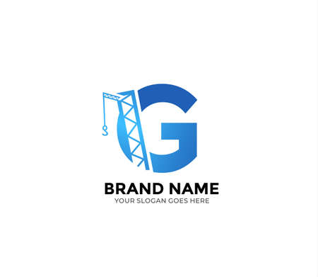 G construction Logo Design Concept