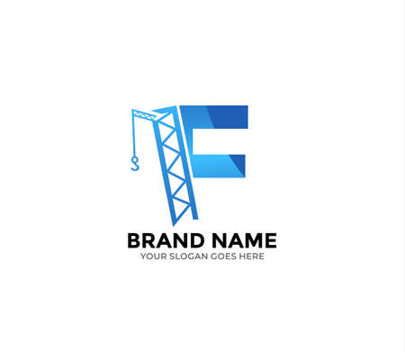 F construction Logo Design Concept