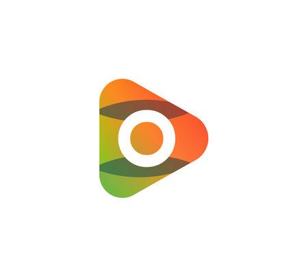 Orange Color Play O Letter Entertainment Concept