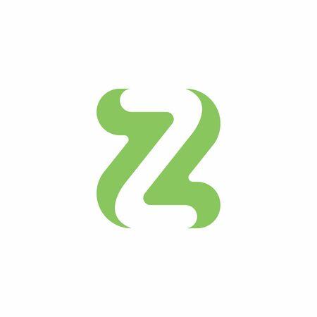 Modern, minimalist Letter Z, Negative Space letter Z icon, minimal and creative letter Z monogram template .vector