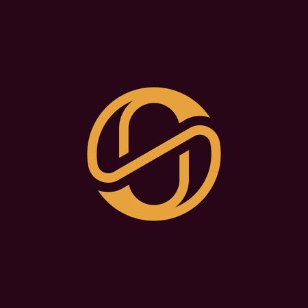 Elegant letter S in circle shape, Luxury SS Monogram, Minimal circular SS for fashion, cosmetic business company .vector Ilustracja