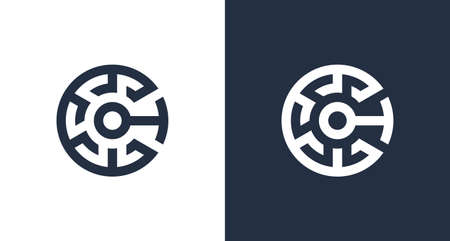 Creative letter C initial logo with abstract crypto element, CT logo template .vector Logo