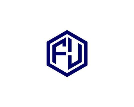 FJ JF LETTER LOGO DESIGN VECTOR TEMPLATE. FJ JF LOGO DESIGN. Logó