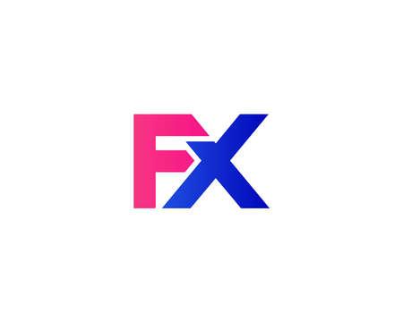 FX XF LETTER LOGO DESIGN VECTOR TEMPLATE. FX XF LOGO DESIGN.