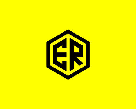 ER RE LETTER DESIGN VECTOR TEMPLATE.