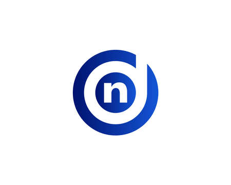 DN and ND logo design vector template