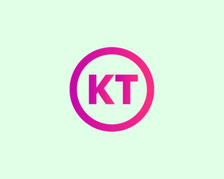 KT and TK logo design vector template