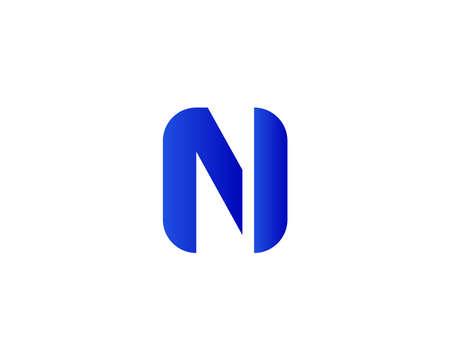 NI IN logo design vector template