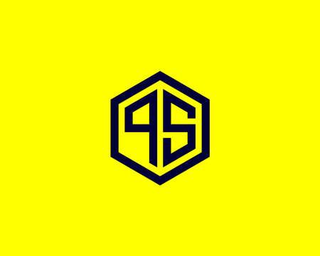 QS SQ logo design vector template