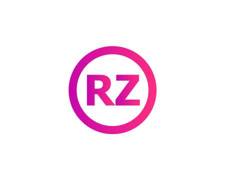 RZ ZR logo design vector template Logó