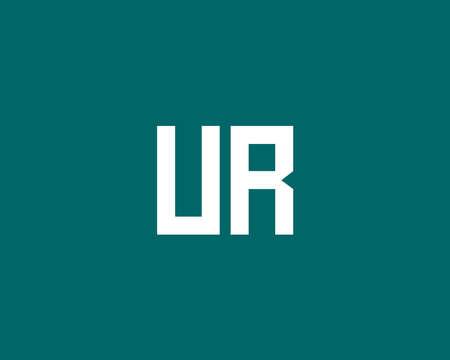UR RU logo design vector template Logó