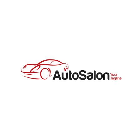 dealership: Car Auto Salon icon Template