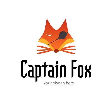 Pirate Captain Fox icon Template