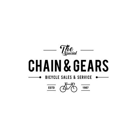 Retro Vintage Bicycle Label Design Ilustrace