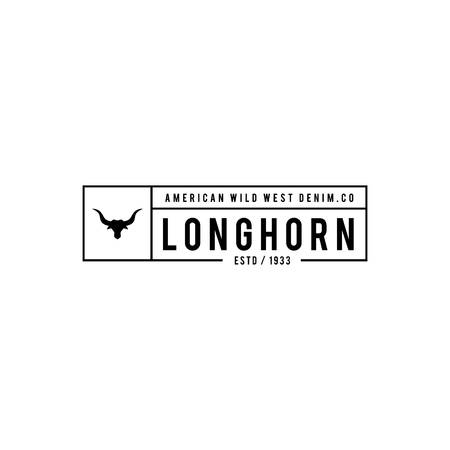 texas longhorn cattle: Vintage label with silhouette of bull head. Texas Wild West Theme.  illustration