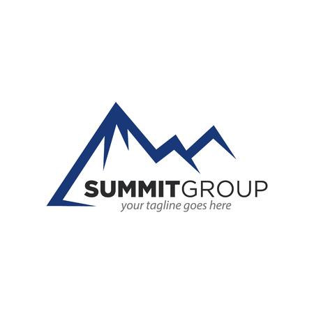 illustration of Mountain, Nature concept logo, Summit, Peak