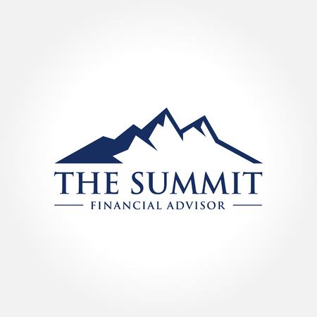 Illustratie van de Berg, Nature concept logo, Summit, Peak Stockfoto - 66091609