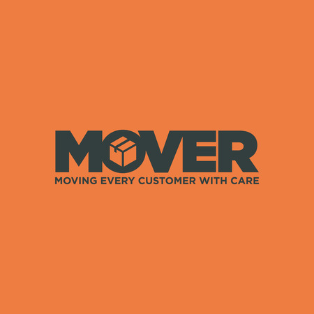 clever: Clever Typography Moving business service.  graphics representing concept of moving Illustration