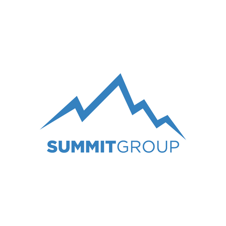 Creative Mountain Symbol. Nature concept such as Summit, Peak, Hill