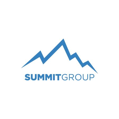 Creative Symbol Mountain. Nature concept zoals Summit, Peak, Hill Stockfoto - 66161203