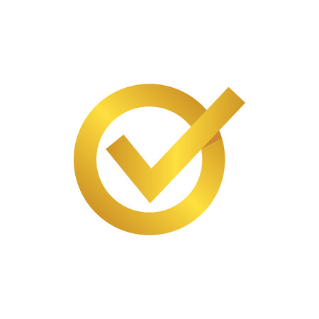 Approved Gold Check Mark Symbol