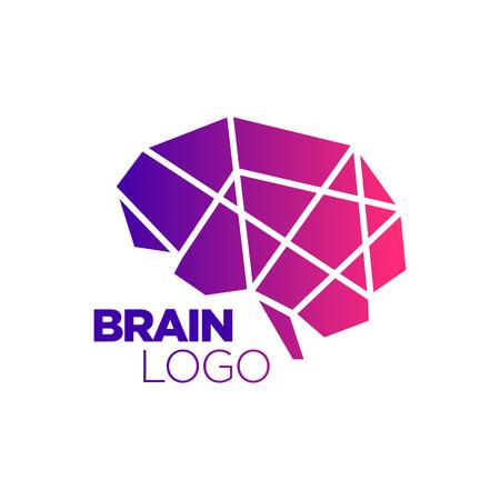 iq: Brain silhouette design vector template. Think idea concept