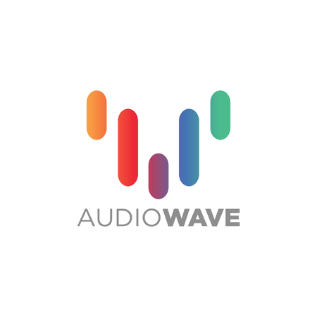 Music concept Sound Wave, Audio Technology, Abstract Shape