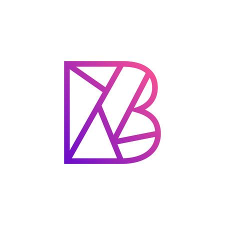 Stylish Letter B, Creative Design Vektorové ilustrace