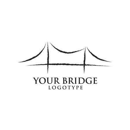 Bay Bridge logo illustration Vettoriali