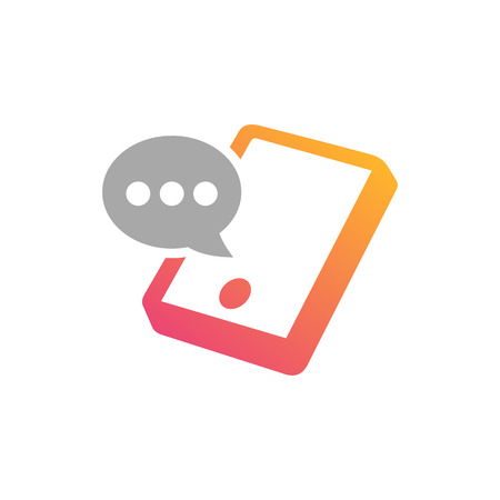 mobile application: Mobile Phone Chatting application design concept illustration