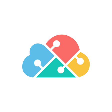 Cloud Technology design template. vector illustration