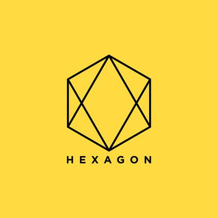 Hexagon symbol. vector illustration
