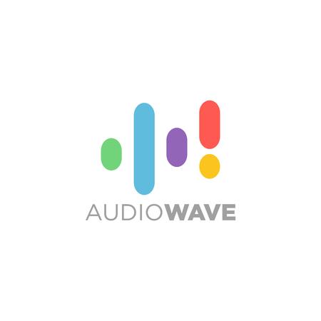 Música Logotipo concepto de ondas de sonido, tecnología de audio, Forma abstracta