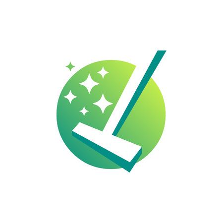 Reinigungsservice Business-Logo-Design, Eco Friendly Konzept für Innen, Haus- und Gebäude