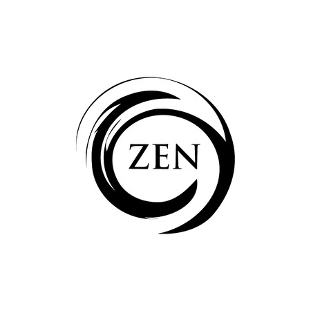 swirl: Abstract Swirl Shape, Zen Circle, Beauty Spa, Meditation Illustration