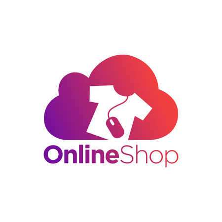 clothing shop: Online Shopping Concept Symbol