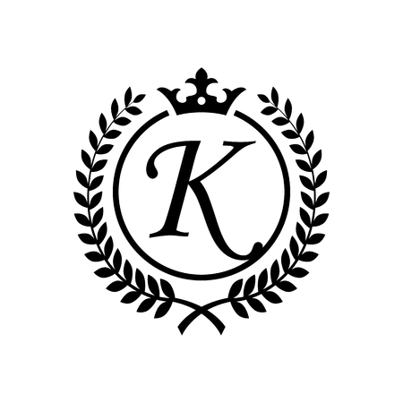 Letter K inside Royal Emblem