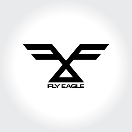 Fly Modern Typography. Monochrome Vector illustration
